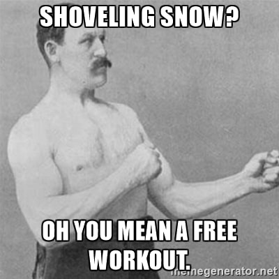 shoveling workout
