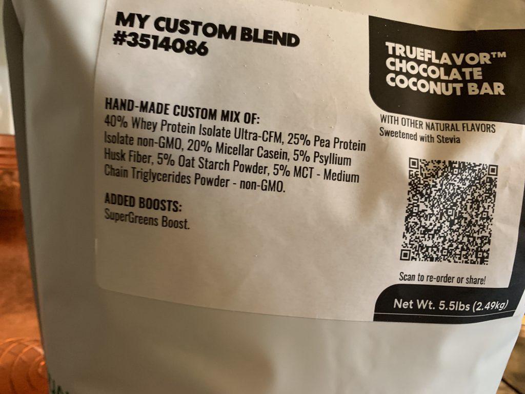 True Nutrition custom blend protein